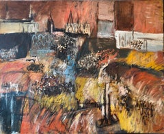 Jewish Mexican Avant Garde Fiesta of Guadalupe Expressionist Oil Painting