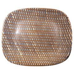 Yorkshire Pottery Combed Slipware Bread Dish, Harwood Stockton for John Harwood