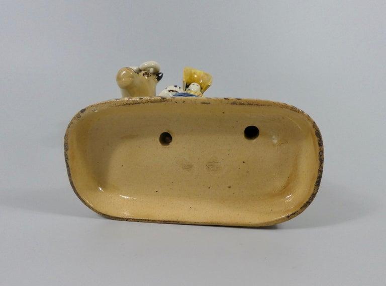 Ceramic Yorkshire Prattware Shepherdess and Cow Group, circa 1820 For Sale