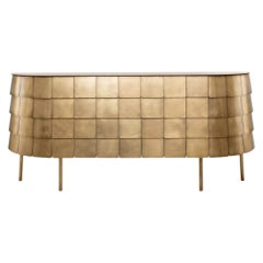 Yoroi Cabinet in Brass by De Castelli
