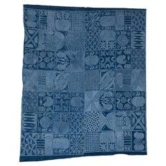 Yoruba Adire Eleko Indigo Textile