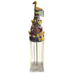Yoruba African Beaded Headdress