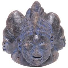 Yoruba Four Headed Egungun Headdress