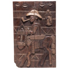 Yoruba Horseback Ilekun Door Panel