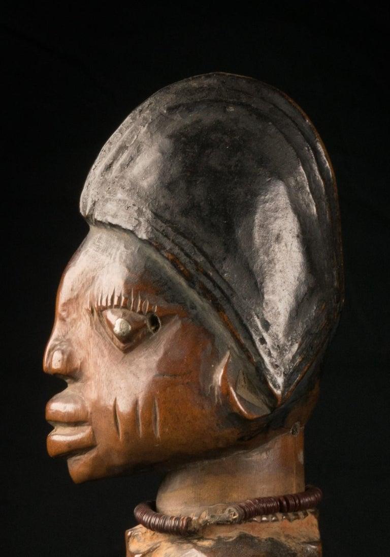Yoruba People, Nigeria, Carved Twin Figure