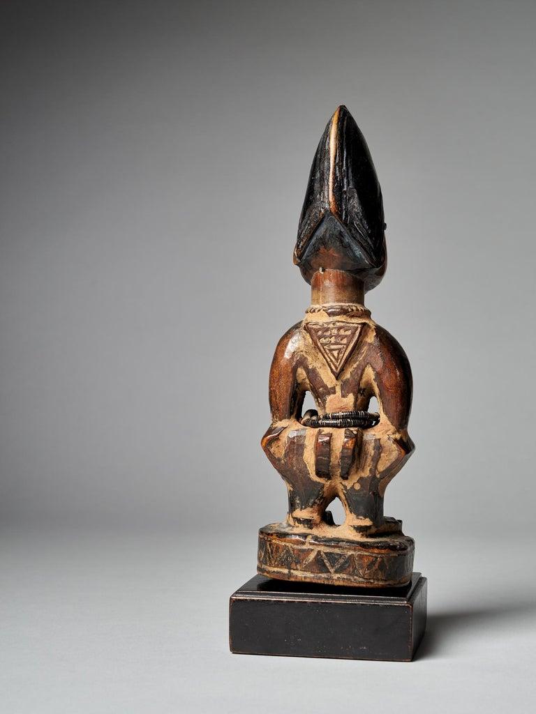 Nigerian Yoruba People, Nigeria, Carved Twin Figure