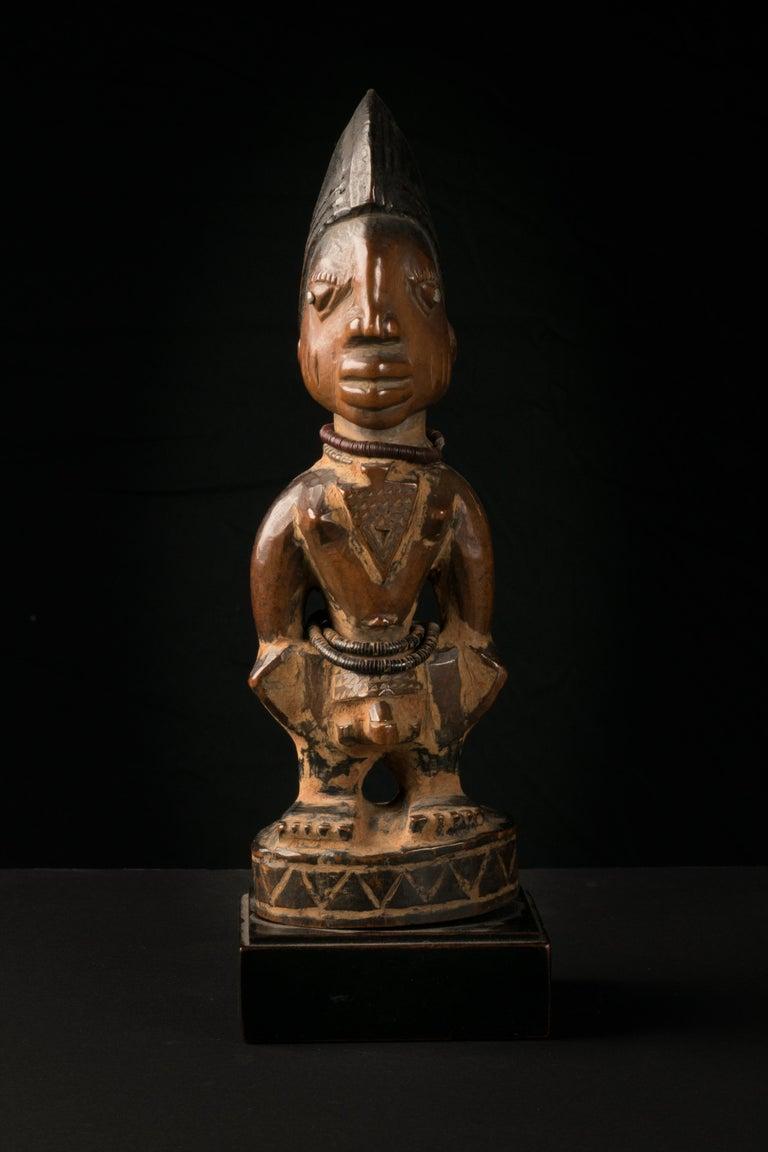 Beads Yoruba People, Nigeria, Carved Twin Figure
