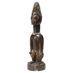 Yoruba Tribal Male Figure, an Ibeji or Twin Figure, Nigeria, Africa, Large Eyes