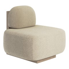 Yoshida Contemporary Lounge Chair in Fabric and Wood by Artefatto Design Studio