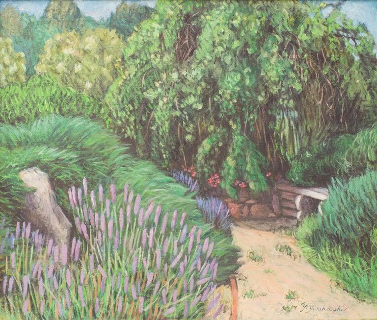Herb Garden II - Impressionist Painting by Yoshie Iwahashi