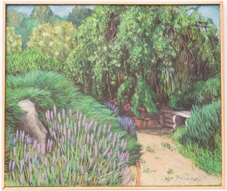 Yoshie Iwahashi Landscape Painting - Herb Garden II