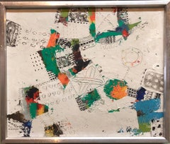 Japanese Modern Abstract 'Some Things of Value' Oil Painting