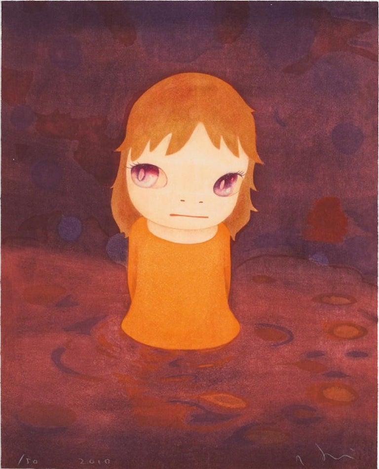 Yoshitomo Nara Abstract Print - After the Acid Rain (Night)