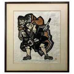Yoshitoshi Mori Signed Limited Edition Japanese Stencil Print, 1969