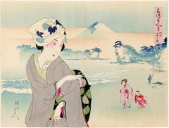 Beauties on the Beach with view of Mount Fuji