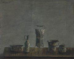 Still life painting titled Vessels by Yosl Bergner
