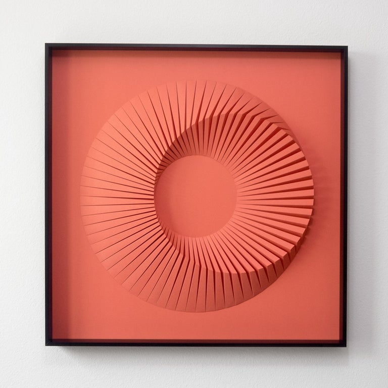 Yossi Ben Abu Abstract Painting - Eclipse B Pink - abstract wall sculpture