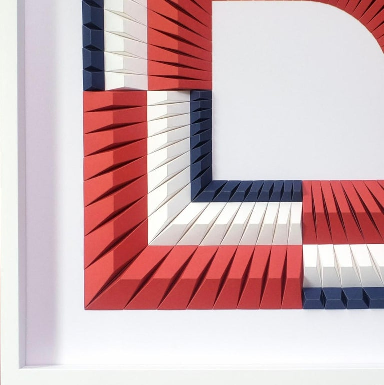 Arch B - Geometric abstract wall sculpture For Sale 2