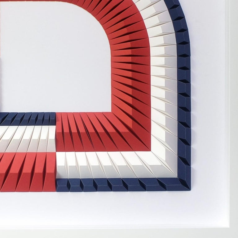Arch B - Geometric abstract wall sculpture For Sale 3