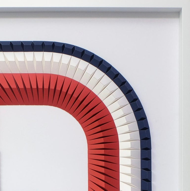 Arch B - Geometric abstract wall sculpture For Sale 4