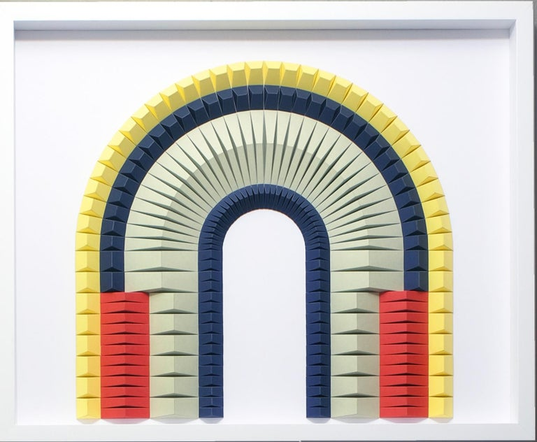 BiPolar B Abstract wall sculpture - Sculpture by Yossi Ben Abu