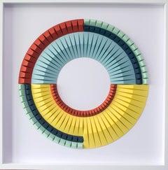 UnEven D - abstract wall sculpture