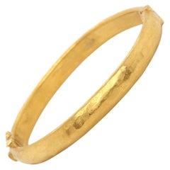 Yossi Harari 24 Karat Yellow Gold Bangle Bracelet