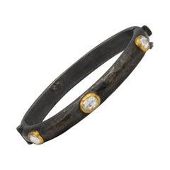 Yossi Harari 2.8 Carat Diamonds Bracelet Silver and 24 Karat Gold