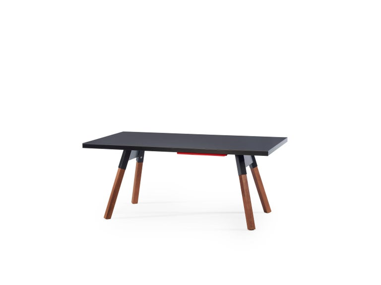 Modern You & Me Ping Pong Table 180 in Black by RS Barcelona For Sale