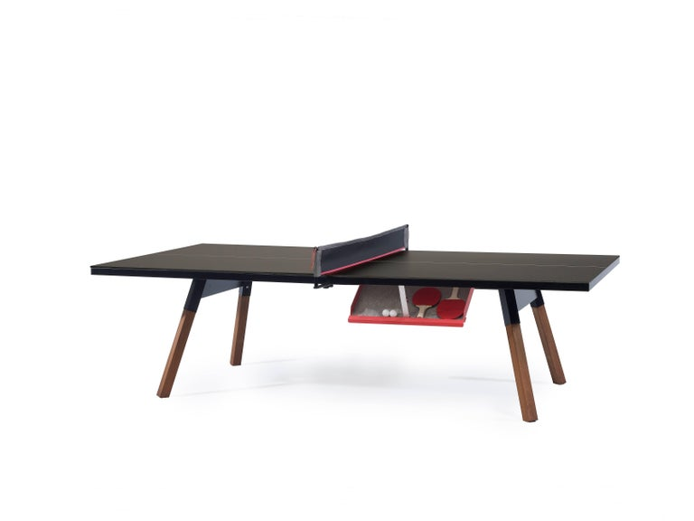 Modern You & Me Ping Pong Table in Standard Black by RS Barcelona For Sale