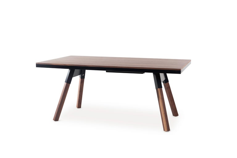 Spanish You & Me Wooden Top 180 Ping Pong Table in Walnut and Black by RS Barcelona For Sale