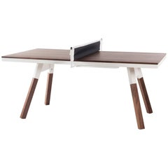 You & Me Wooden Top 180 Ping Pong Table in Walnut and White by RS Barcelona