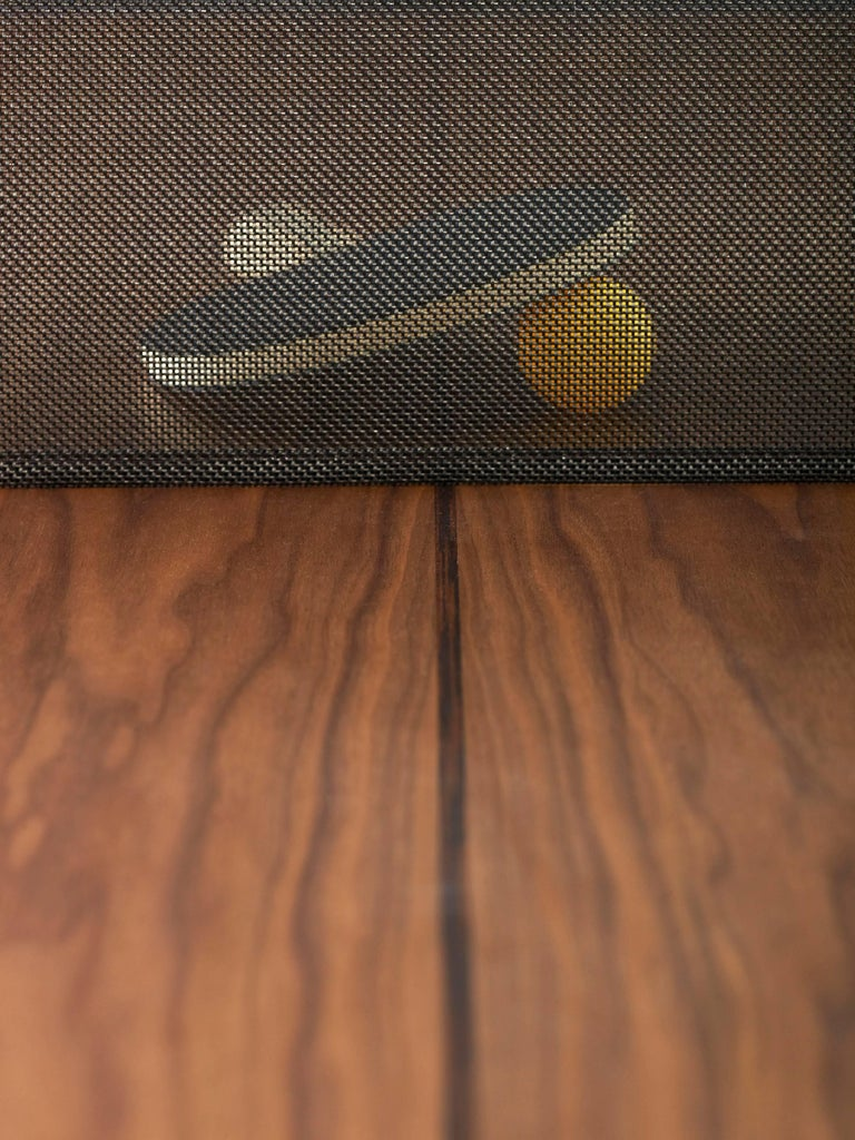You & Me Wooden Top 220 Ping Pong Table in Walnut and Black by RS Barcelona In New Condition For Sale In Edison, NJ