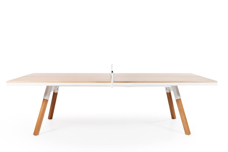 You And Me Wooden Top Standard Ping Pong Table In Oak And