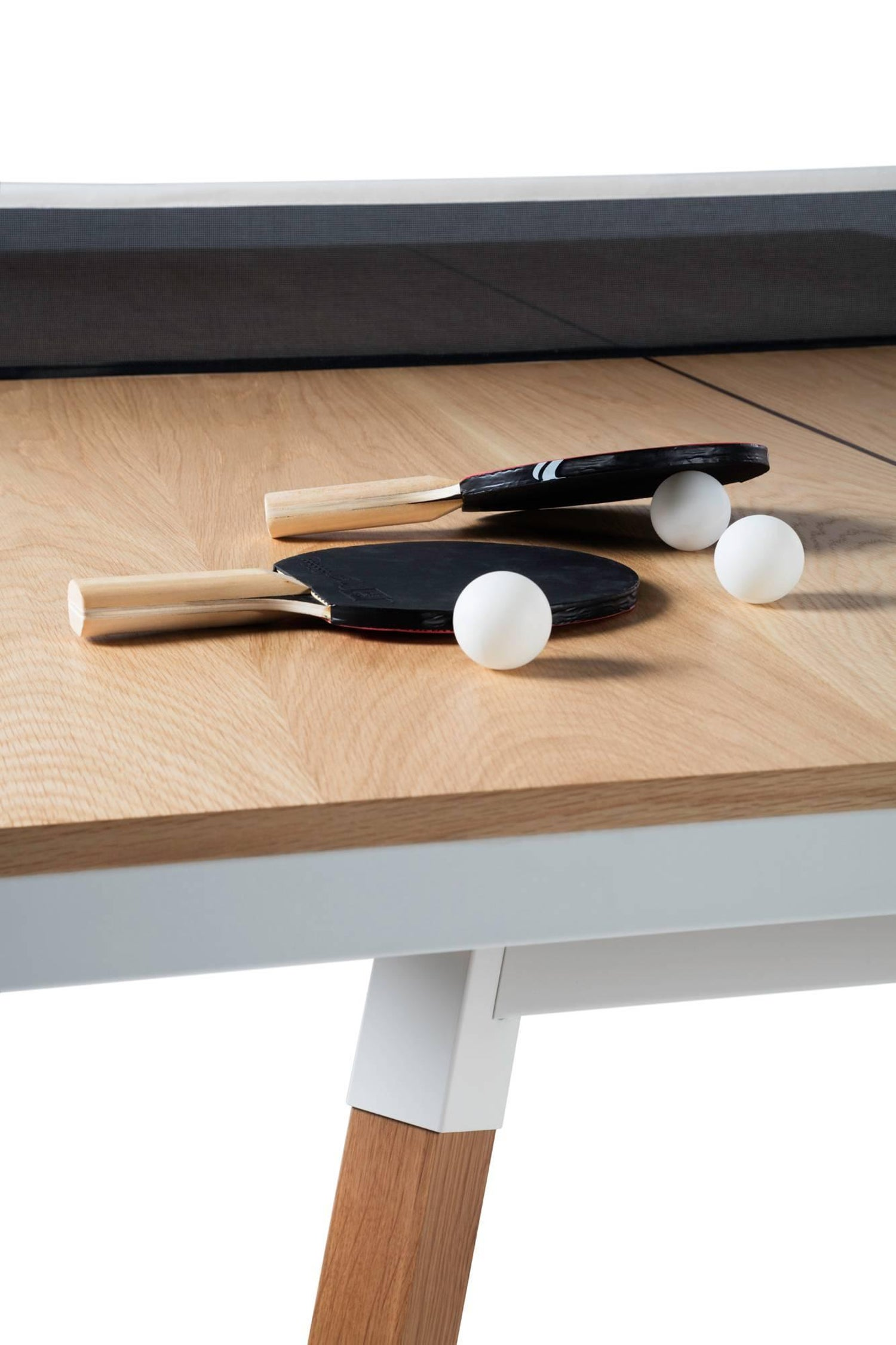 You And Me Wooden Top Standard Ping Pong Table In Oak White By Rs Barcelona For At 1stdibs