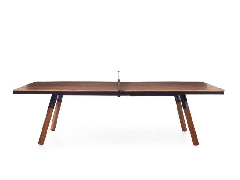 Spanish You & Me Wooden Top Standard Ping Pong Table in Walnut and Black by RS Barcelona For Sale