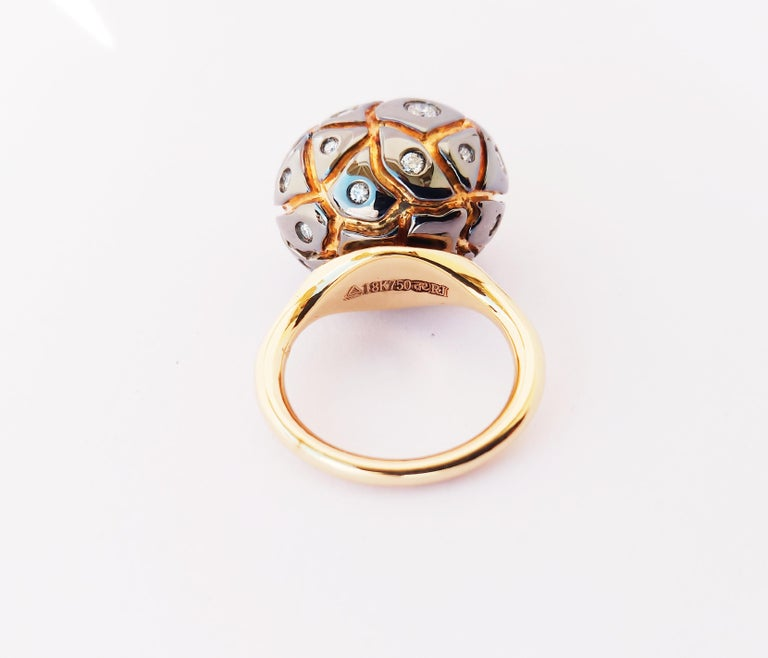 Round Cut You Grab Eyeballs Without Worrying Being Xeroxed with Diamond Cocktail Ring For Sale