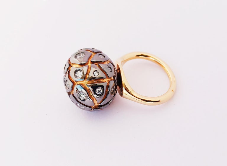 You Grab Eyeballs Without Worrying Being Xeroxed with Diamond Cocktail Ring In New Condition For Sale In NEW DELHI, IN