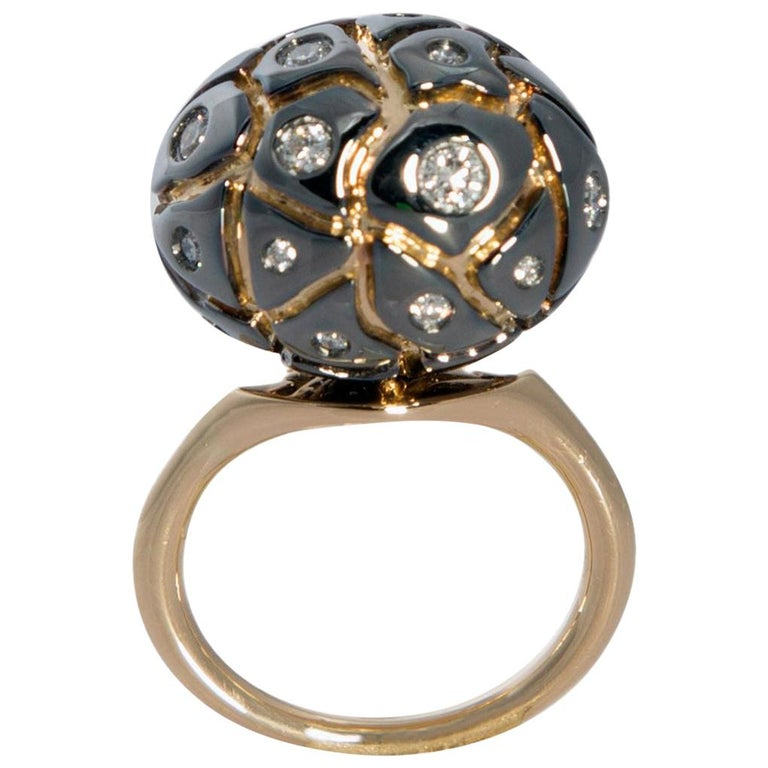 You Grab Eyeballs Without Worrying Being Xeroxed with Diamond Cocktail Ring For Sale