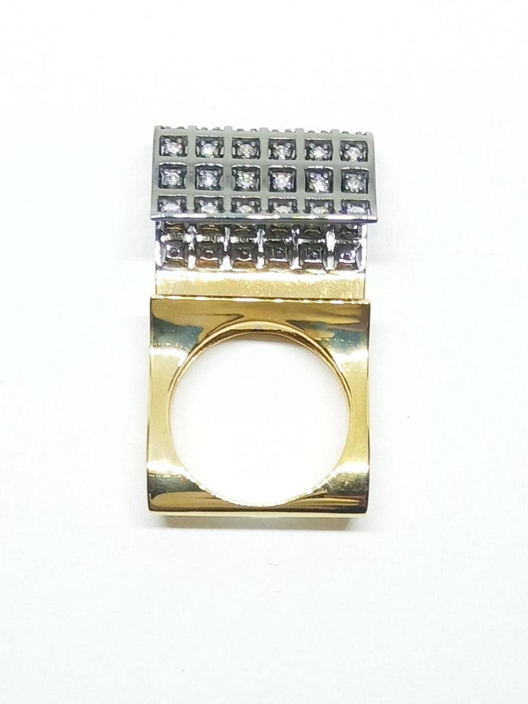 You Grab Eyeballs Without Worrying Being Xeroxed, White Diamond Fashion Ring For Sale 1
