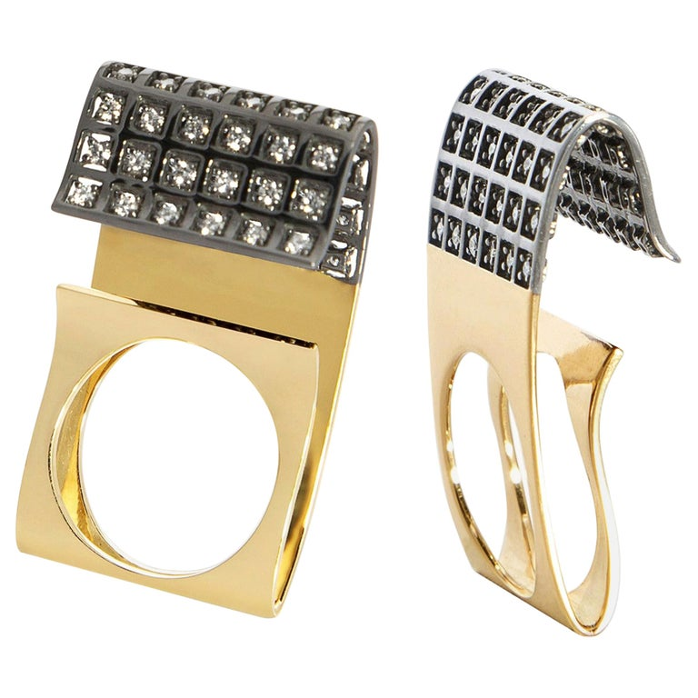 You Grab Eyeballs Without Worrying Being Xeroxed, White Diamond Fashion Ring For Sale