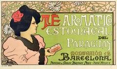 Original Antique Poster Te Aromatico Estomacal Del Paraguay Aromatic Tea Drink
