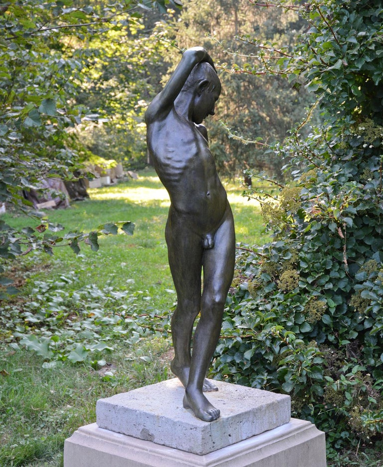 European Young Dancer in Bronze For Sale