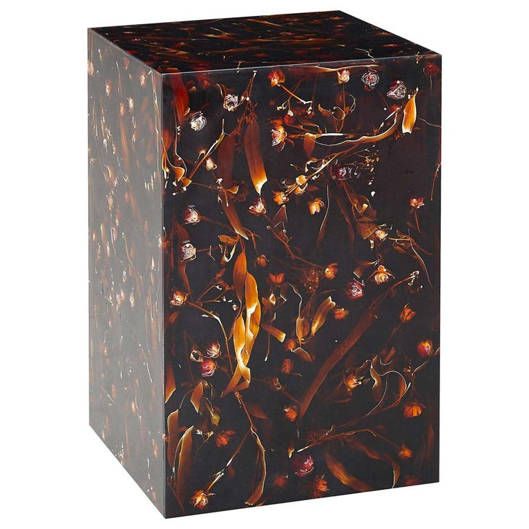Young Inches Side Table in Resin For Sale