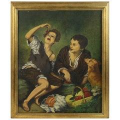 Young Italian Boys Celebrating with Dog