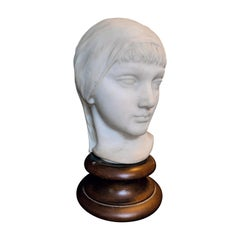 """""""Young Woman with Head Scarf"""" Sculpture by Gregory for Folger Library Architect"""