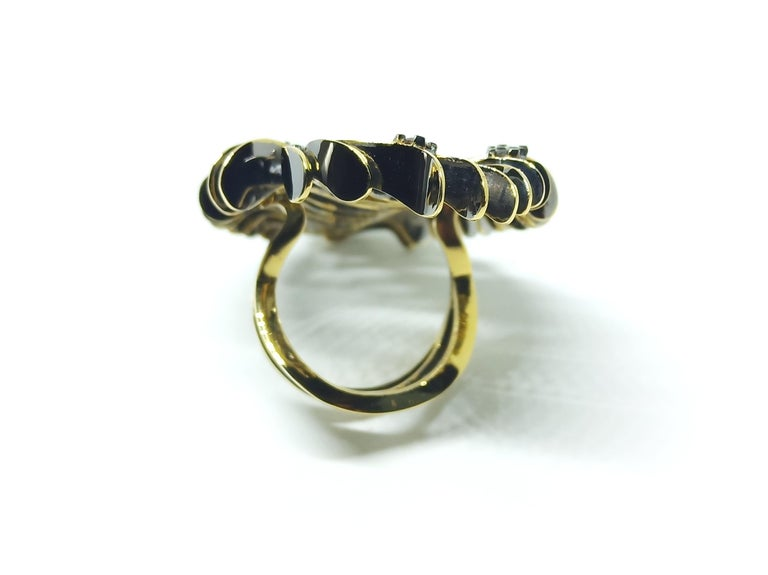 Your Obituary to Ordinary with Contemporary Colored Diamond Gold Cocktail Ring For Sale 2