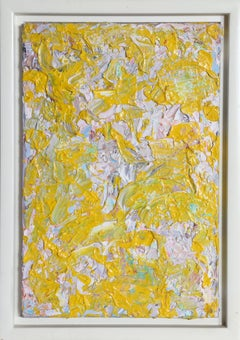 """The Impressions of Gail"", Abstract Yellow Oil Painting by Youri Broitman"