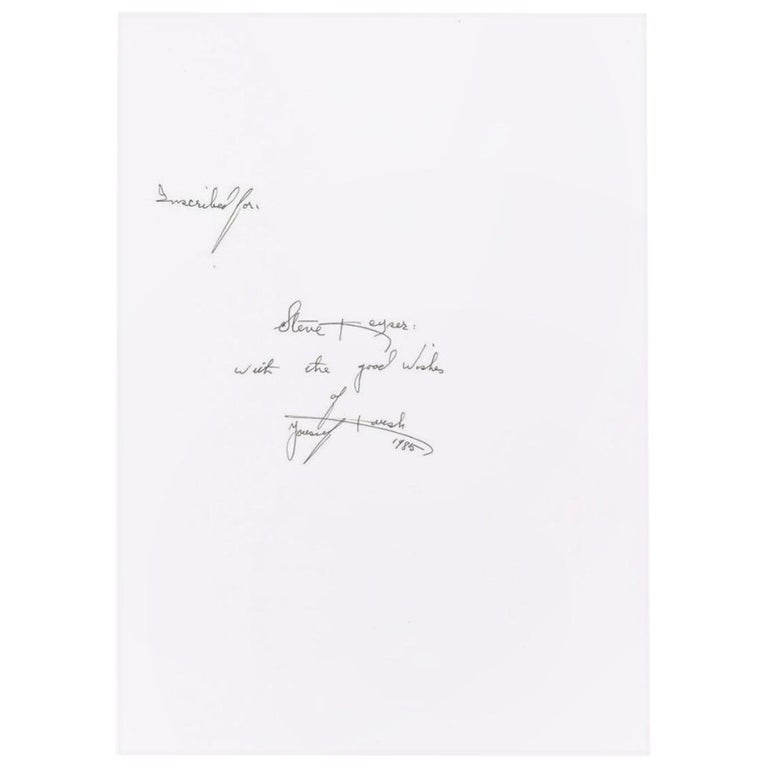 Yousuf Karsh Autograph on a Copy of the Book 'Karsh a Fifty-Year Retrospective' For Sale