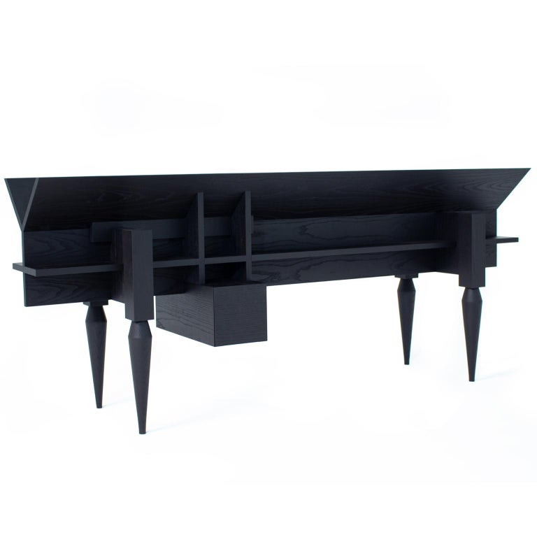 Ypsilon Contemporary Sideboard or Bookcase in Ash  2